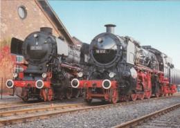 1954594Dampf-Schnell-zuglokomotive 01 1100 + 18 612 Karte 21-15) - Trains