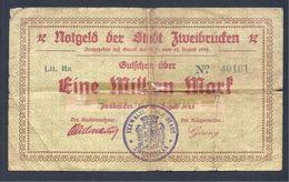 Billet De Nécessité Zweibrücken 1 Million De Mark 1923 - [11] Emisiones Locales