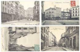 4 Cpa Tarare Rues, Place Du Marché  ... ( S. 3149 ) - Tarare