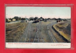 AFRIQUE DU SUD-CPA RAILWAY STATION AND YARD - KIMBERLEY - South Africa