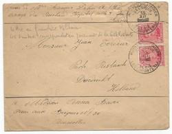 Belgique Belgie Lettre Franchise Militaire, Tarif Poste Restante 15.12.1915 Vers La Haye / Pays Bas - Guerre 14-18