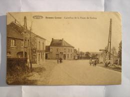 CPA - SOMME LEUZE ( MARCHE CINEY HAVELANGE ) - CARREFOUR DE LA ROUTE DE DURBUY - Somme-Leuze