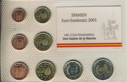Euro Sondersatz,Spanien,2005,inkl. 2 Euro Sondermünze,Don Quijote De La Mancha  (5402) - Spanien