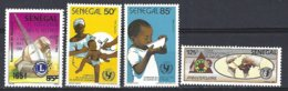 Senegal  Yv 665/6 Unicef+660 Lions Club +744 Foire Intern.de Dakar ** Mnh - Sénégal (1960-...)