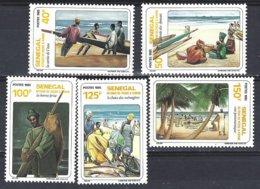 Senegal  Yv 643/7  Retour De Pêche ** Mnh - Sénégal (1960-...)