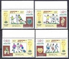 SENEGAL Yv 667/70, Mexico 86, Coupe Du Monde De Football ** Mnh - Sénégal (1960-...)