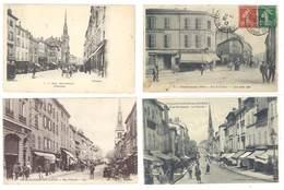4 Cpa Villefranche Sur Saône -  Rues Animées  ... ( S. 3150 ) - Villefranche-sur-Saone