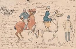 Chevaux : élégant Couple De Cavaliers : Illustrateur à Définir ( Précurseur ) - Horses