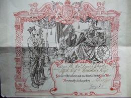 BREVET DIPLOME COMBATTANT BRITANNIQUE GUERRE 1914 1918 WWI - 1914-18
