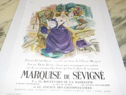 ANCIENNE PUBLICITE  LA MARQUISE DE SEVIGNE 1950 - Posters