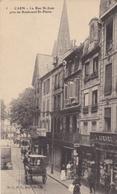 CPA CAEN LA RUE ST JEAN PRES DU BOULEVARD ST PIERRE - Caen