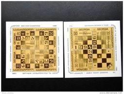 Georgia 1996 Mi#BlockBlock11 (246-249)-Block12 (250-252) Sport Chess Champions Olympiads Women - Georgia