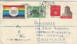 Pakistan - Registered Cover Sent To Denmark  H-1231 - Pakistan