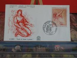 Charles Le Brun, Femme à Genoux - (75) Paris - 28.4.1973 - FDC 1er Jour Coté 3,70€ - FDC