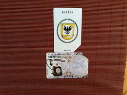 2 Phonecards Lietuvos Urmet  Used - Lithuania