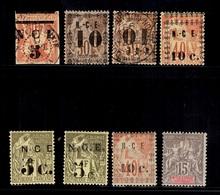 Nouvelle-Calédonie Huit Timbres Anciens 1883/1904. Bonnes Valeurs. B/TB. A Saisir! - New Caledonia