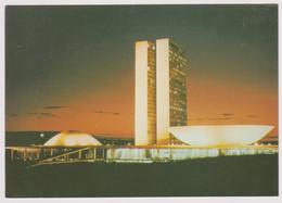 BRASIL - BRASILIA - Vista Noturna Do Congresso Nacional - Ed. Mercator N° 14 - Brasilia