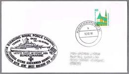 Tender SAAR (A-65) - Ultimo Viaje En La Armada Alemana - Marineschiffspost 61 - 1990 - Militares