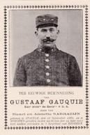Bidprentje Gesneuveld 29.06.1917- Gustaaf GAUQUIE- Stavele- Woesten- Beveren - Religion & Esotérisme