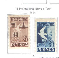 Polonia PO 1954 7 Int.Gara Ciclismo   Scott.620+621 +See Scan On Scott.Page; - 1944-.... República