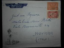 Arabie Saoudite Lettre De Dahran 1953 Pour Novara - Arabie Saoudite