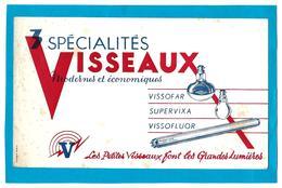 Buvard - VISSEAUX 3 Spécialités - Lampes Vissofar, Supervixa, Vissofluor - Elektrizität & Gas