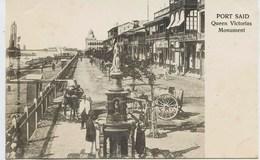11026 -  Egypte -  PORT  SAÏD  : RUE DE QUEEN  VICTORIAS   ANIMATION   -  CANAL De SUEZ    En  1904 - Port Said