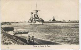 11027 -  Egypte -  PORT  SAÏD  : CROISEUR A L'ENTREE DU CANAL DE SUEZ       -   En  1904 - Port-Saïd