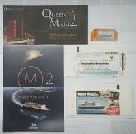 Jb5.f- Paquebot QUEEN MARY 2 Liner Cunard Q.M.2 Cruises    - Lot 1 - Sciences & Technique