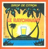 étiquette De Sirop De Citron Le Rayonnant Distillerie La Moderne à Thierville - 100 Cl - Fruits & Vegetables