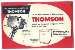 Buvard - THOMSON - Les Grandes Réalisations - Caméra De Télévison, Appareils Ménagers Frigo.... - Blotters