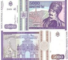 ROMANIA  5000 Lei 1993 P 104 UNC - Roumanie