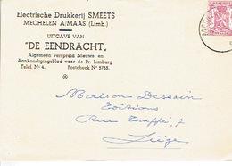 """PK Publicitaire MAASMECHELEN 1947 - SMEETS - Elektrische Drukkerij - Uitgave Van """"DE EENDRACHT"""" - Maasmechelen"""