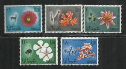 SOMALIA 1965 FLORA FAUNA FLOWERS + ANIMALS - FIORI D'AFRICA + ANIMALI - FLEURS + ANIMAUX MNH POST AFIS - Somalia (1960-...)