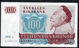 SWEDEN P54 100 KRONOR 1978    VF - Suède