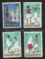 SOMALIA 1967 FOLK DANCES DANZE POPOLARI SERIE COMPLETA COMPLETE SET MNH POST AFIS - Somalia (1960-...)