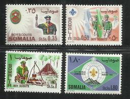 SOMALIA 1967 SCOUT SCOUTISMO SCOUTISM SERIE COMPLETA COMPLETE SET MNH POST AFIS - Somalia (1960-...)