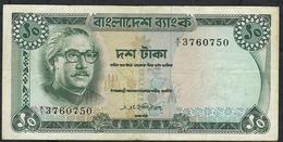 BANGLADESH P11a 10 TAKA 1972 Signature 1a   FIRST PREFIX A/1  VF NO P.h. - Bangladesh