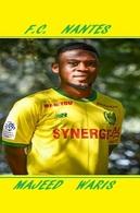 CARTE DE JOUER DU FC. NANTES . MAJEED  WARIS # REFERENCE . JN.FC. 322 - Soccer