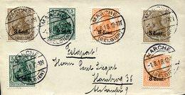 39651 Belgium, Cover 1.8.1918 Circuled From Marche Belgieun To Hamburg (feldpost) - WW I