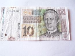 A Vendre 1 Billet De Croatie De 10 Kuna . Petit Prix De Départ - Croatie