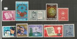Emissions Noël Des Années 1960 à 1969.  10 Timbres Neufs **  Côte 15,00 Euro - Norfolk Island