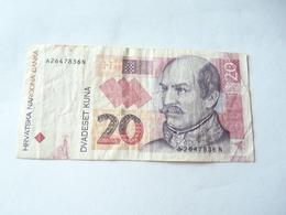A Vendre 1 Billet De Croatie De 20 Kuna . Petit Prix De Départ - Croatie