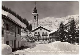 GRESSONEY TRINITE' - ENTRATA AL PAESE - SFONDO MONTE ROSA - AOSTA - 1963 - Aosta