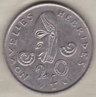 Nouvelles-Hébrides 20 Francs 1967 En Nickel - Vanuatu