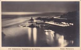 VALPARAISO, TORPEDERAS DE NOCHE, CASA PELLERANO. CHILE. CIRCA 1940s NON CIRCULEE- BLEUP - Chile