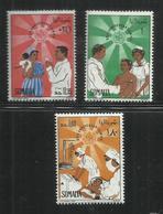 SOMALIA 1968 ANNIVERSARY ANNIVERSARIO WHO ORGANIZZAZIONE MONDIALE SANITA' OMS SERIE COMPLETA COMPLETE SET MNH POST AFIS - Somalia (1960-...)