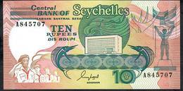 SEYCHELLES P32 10 RUPEES (1989) Prefix A         UNC. - Seychelles