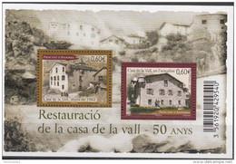 Andorre Français 2012 Yvert F721 Neuf ** Cote (2015) 4.00 Euro 50 Ans Restauration De La Maison De La Vallée - Blocs-feuillets
