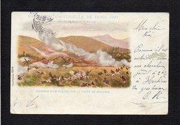 Madagascar / Incendie D'un Village Sur La Route De Majunga / Exposition Universelle De Paris 1900 / Mission Marchand - Madagascar